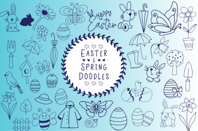 Easter And Spring Doodles