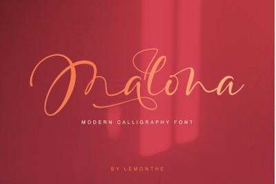 Malona - Modern Calligraphy