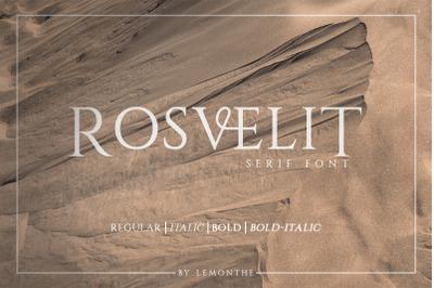 RosveliT - Serif Font