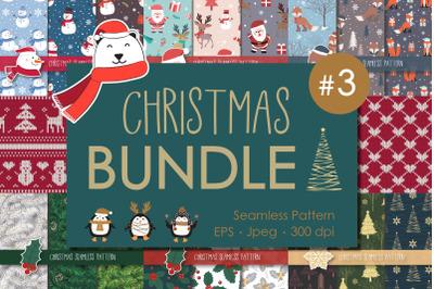 Big Bundle Christmas Collection Seamless Pattern