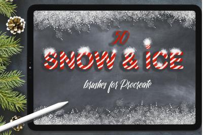 Snow & Ice Procreate Brush Set