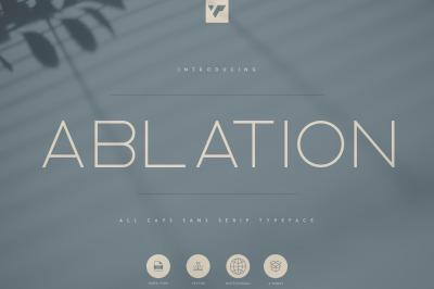 Ablation - Sans Serif Typeface