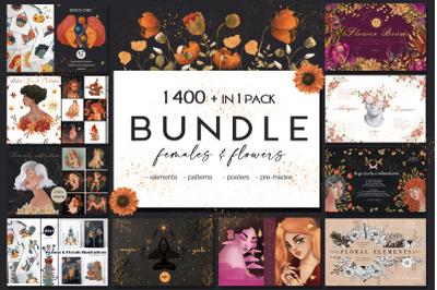 Females & Flowers BUNDLE 1400 in 1