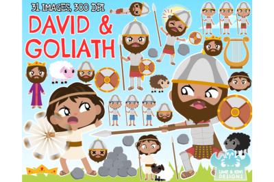 David & Goliath Clipart - Lime and Kiwi Designs
