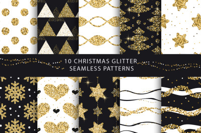 Christmas Glitter Seamless Pattens