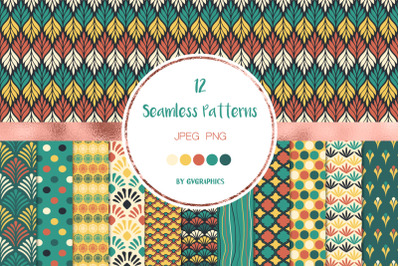 12 Classic Abstract Seamless Patterns