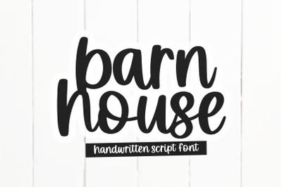 Barnhouse - Handwritten Script Font