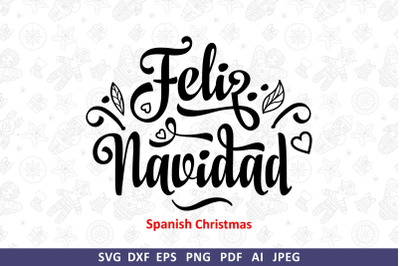 Feliz Navidad svg Spanish Christmas svg Around the World