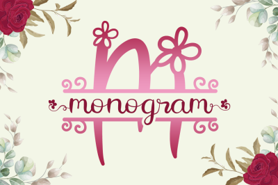 Flower Monogram - Calligraphy