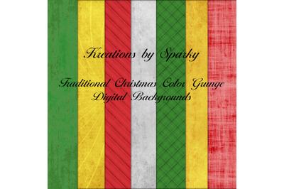 Traditional Christmas Color Grunge Digital Backgrounds