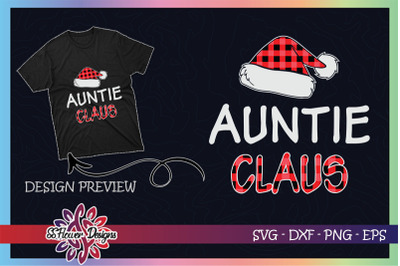 Red Plaid Auntie Claus - Matching Family