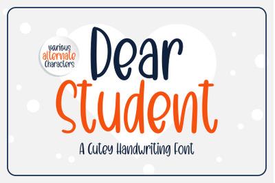 Dear Student - a cutey handritten font