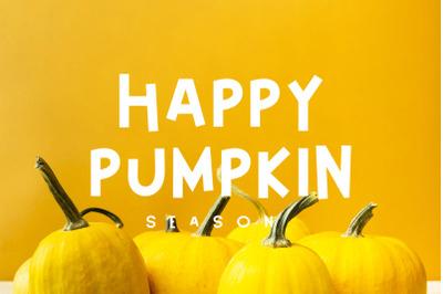 Happy Pumpkin Font
