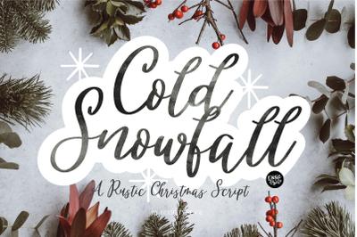 COLD SNOWFALL a Farmhouse Christmas Font