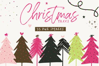 Modern Christmas Trees Illustrations