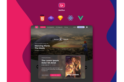 Netflux - Entertainment Landing Page