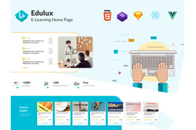 Edulux - Education Landing Page