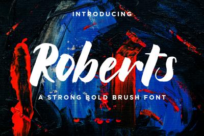 Roberts // Strong Bold Brush Script