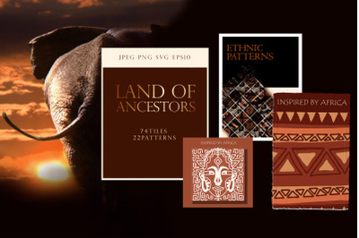 """Ethnic African Patterns and tiles """"Ancestral land"""""""