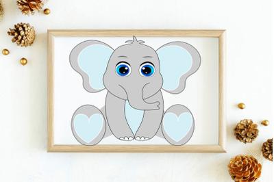Elephant SVG set, boy elephant svg, Cute Elephant SVG Cut Files, Eleph