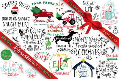 MEGA Christmas SVG Bundle 5