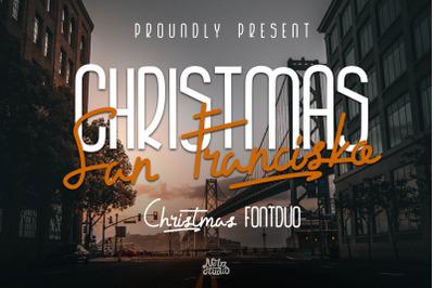 Christmas San Francisko Font Duo