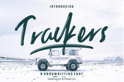 Trackers Handwritten Font
