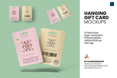 Hanging Gift Card Mock-up - 10 Views