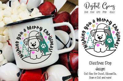 Christmas dog design