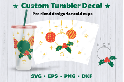 Christmas designs to personalize your Cold Cup Tubler.