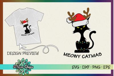 Funny Cat Reindeer Meowy Christmas Light