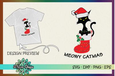 Meowy Catmas Christmas sock Xmas Light