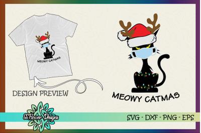 Meowy Catmas Christmask Funny cat Santa