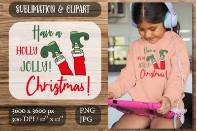 Elf Sublimation Clipart. Christmas Sublimation
