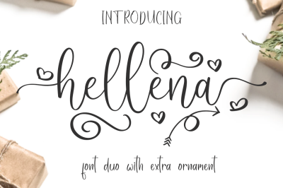 Hellena Font Duo with additional Ornament