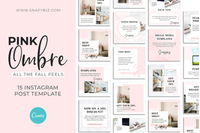 Pink Ombre Canva Instagram Template