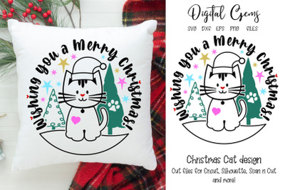 Cat Christmas design