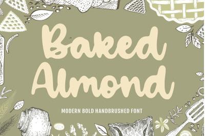 Baked Almond Modern Bold Handbrushed Font
