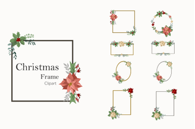 New year's clipart-frames for Christmas - vector SVG clipart-winter fl