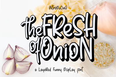 Fresh Onion Layered Funny Display Font