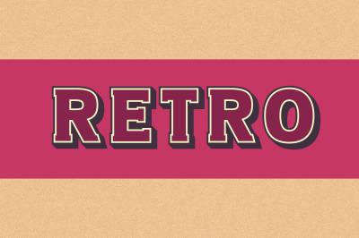 Retro 3D SVG Font