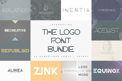 The Logo Font Bundle - 24 fonts