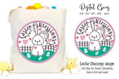 Easter blessings, rabbit design