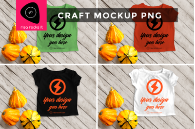Child's Tee with Fall Gourds | PNG Mock Up
