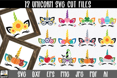 Holiday Unicorn Bundle - Unicorn SVG Files - Unicorn Files
