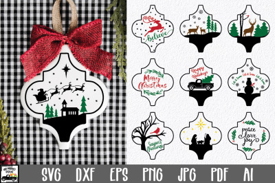 Christmas Ornament SVG - 10 Arabesque Christmas SVG Files