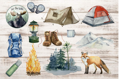 Adventure Clip Arts - Watercolor Set