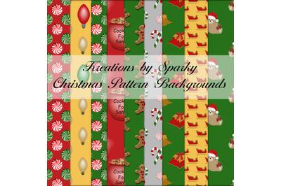 Christmas Pattern Digital Backgrounds