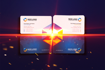 prism business card