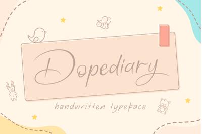Dopediary Handwritten Typeface